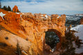 Bryce canyon arch a sandstone at national park at sunrise Royalty Free Stock Image