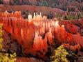 Bryce canyon hoodoos landscape sunrise spires in morning backlight national park at utah Royalty Free Stock Images
