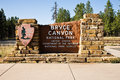 Bryce Canyon National Park Entrance Sign Stock Photography