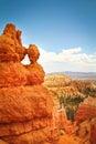 Bryce canyon rock formation close up at utah Royalty Free Stock Photos
