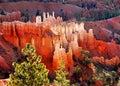 Bryce canyon sunrise hoodoos at national park utah usa Royalty Free Stock Photos