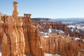 Bryce canyon in utah after a light snowfall Royalty Free Stock Photo
