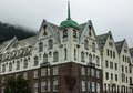 Bryggen in the historical center of Bergen Stock Image