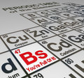 Bs you re full of it periodic table dishonest liar false the abbreviation for bullshit on a peridoic elements with the words to Stock Photography
