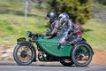 1929 BSA Shoper Motorcycle with sidecar on country road