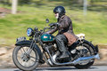1935 BSA Sloper Motorcycle on country road