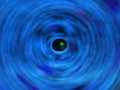 Bstract background of spin circle radial motion blur is color bl blue Stock Photo