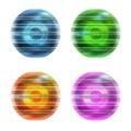 �bstract ball set of four Stock Photos