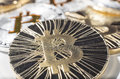 BTC Bitcoin coins Royalty Free Stock Photo