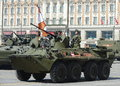 The BTR-82A is an Russian 8x8 wheeled amphibious armoured personnel carrier (APC). Royalty Free Stock Photo