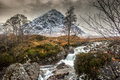 Buachaille etive mor glencoe in winter the mountain is which rises above rannoch moor to a height of m it is located the lochaber Royalty Free Stock Photo