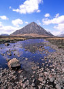 Buachaille etive mor landscape pyramidal mountain at the head of glen in scotland Stock Image