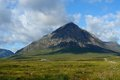 Buachaille etive mor mountain scenery in scotland around at summer time Stock Photo