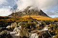 Buachaille etive mor the shepherd in gaelic is an iconic mountain seen from glencoe in the highlands of scotland it guards the Royalty Free Stock Photography