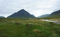 Buachaille etive mor at summer time scenery in scotland around Stock Photos