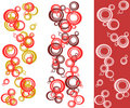 Bubble background set Stock Photography