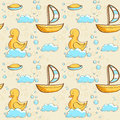 Bubble bath seamless pattern illustration Royalty Free Stock Images