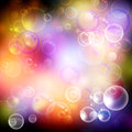 Bubble and bokeh Royalty Free Stock Image