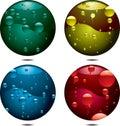 Bubble button Royalty Free Stock Photo