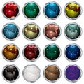 Bubble button bevel Royalty Free Stock Photo
