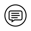 Bubble chat in Circle on white background - vector iconic design
