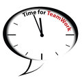 "Bubble clock ""Time for Teamwork"" Royalty Free Stock Photo"