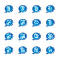 Bubble mobile phone icons Stock Images