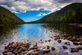 Bubble Pond, at Acadia National Park, Maine. Royalty Free Stock Photo