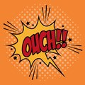 Bubble pop art of ouch design icon comic communication retro and expression theme vector illustration Royalty Free Stock Images