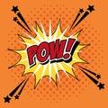 Bubble pop art of pow design