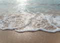 Bubble of Sea wave on sand Royalty Free Stock Photo