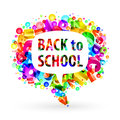 Bubble for speech Back to School. Royalty Free Stock Image