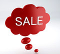 Bubble speech sale image of red d illustration Royalty Free Stock Photo