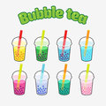 Bubble Tea set Royalty Free Stock Photo