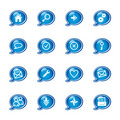 Bubble web icons Stock Photography