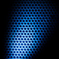 Bubble wrap lit by blue light abstract background Royalty Free Stock Image