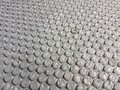 Bubble wrap texture plastic material background grey secure packing surface Royalty Free Stock Photo