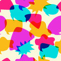 Bubbles Chat Icons Intersect in Seamless Pattern Royalty Free Stock Photo