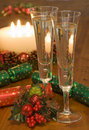 Bubbles christmas celebration Stock Photo