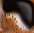 Bubbles of foam coffee Royalty Free Stock Image