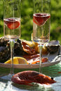 Bubbles and Seafood Royalty Free Stock Images