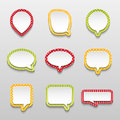 Bubbles for speech collection vector illustration Royalty Free Stock Photography
