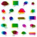 Bubbles speech no transparencies colorful Stock Photos