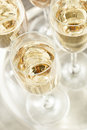 Bubbling Champagne in a Glass Royalty Free Stock Photo