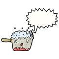 bubbling kitchen pan cartoon character
