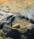 Bubbling mud volcano Royalty Free Stock Photos