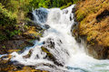Bubbling stream of the datanla waterfall in da lat city dalat vietnam and surrounding area is a popular tourist Royalty Free Stock Photography