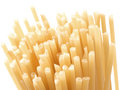 Bucatini spaghetti pasta close up of isolated on white Royalty Free Stock Photography