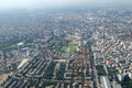 Bucharest, aerial view Royalty Free Stock Images