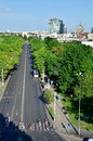 Bucharest aerial view of romania maresal constantin prezan boulevard Stock Photo
